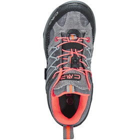 CMP Campagnolo Rigel Low WP Trekking Shoes Kids Grey-Red Fluo